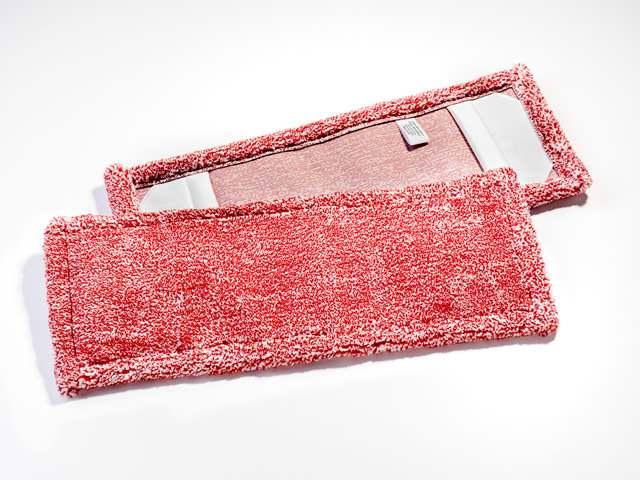 MO Microfaser PREMIUM Mopp rot meliert